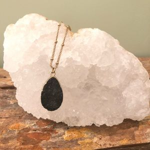 Black Geode Necklace